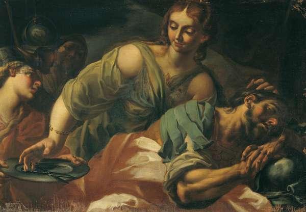 Samson and Delilah (Sansone e Dalila), 17th century (oil on canvas)