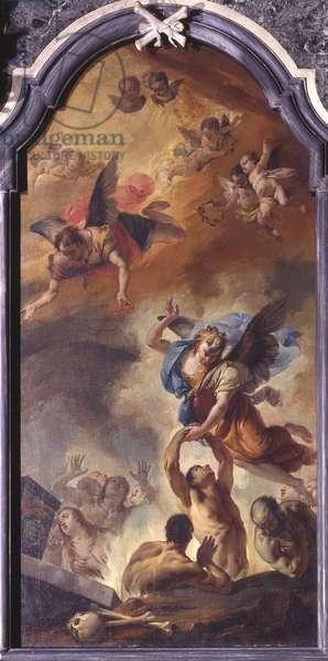 Souls in Purgatory, by Francesco Zugno, 1751, 18th Century, canvas