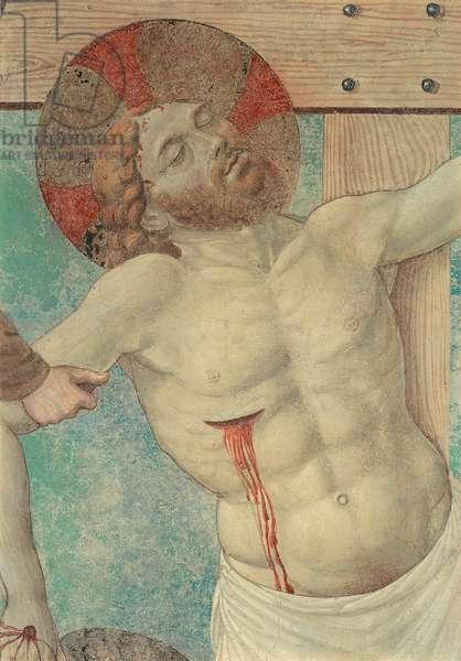Frescoes of the Tabernacle of the Executed (Affreschi del Tabernacolo dei Giustiziati), by Benozzo di Lese di Sandro, known as Benozzo Gozzoli, 1464 - 1465, 15th Century, fresco