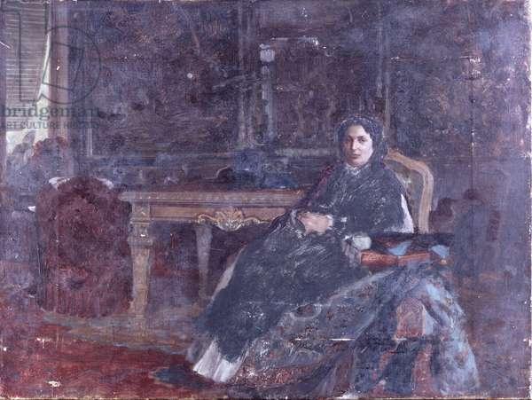 In the livingroom (In sala), by Giuseppe De Nittis, 19th Century