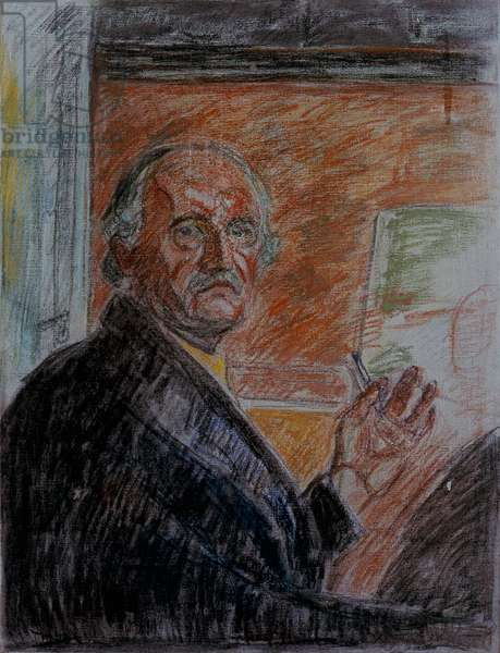 Self-Portrait with a Chalk, 1943 (oil on canvas)