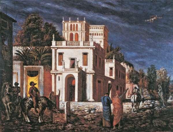 Ottobrata, by Giorgio de Chirico, 1924, 20th Century, tempera on canvas, 135 x 188 cm