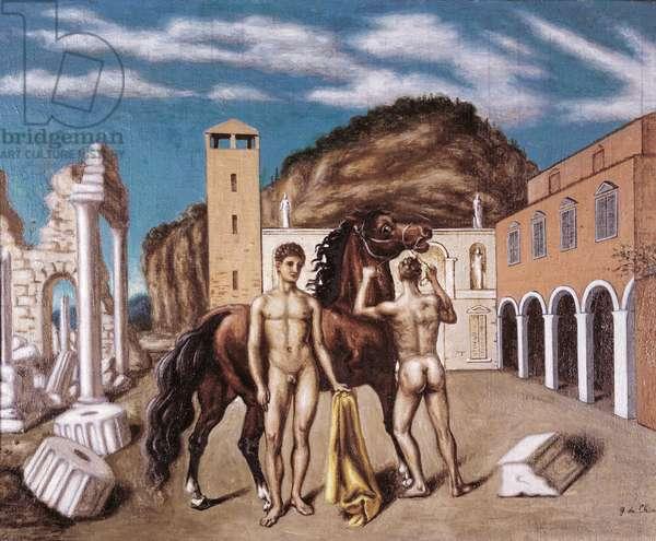 The Dioscuri (I Dioscuri), by Giorgio de Chirico, 1934, 20th Century, oil on canvas, 78 x 100 cm