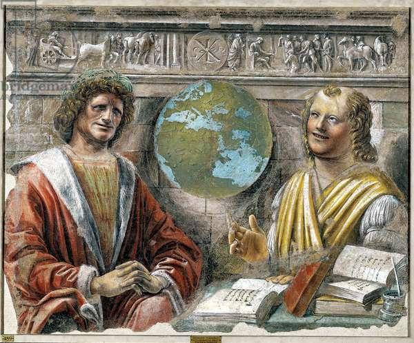 the Greek philosophers Heraclitus of Ephesus and Democritus, c.1487 (fresco)