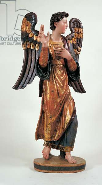 The Announcing Angel, 1534 (wood carved, gilded and partially silver, covered)