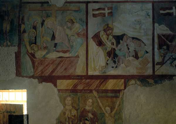 Deposition and Descent to Limbo, (fresco)