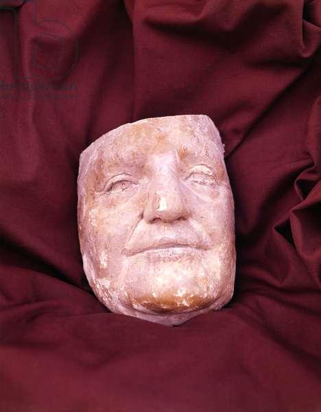 Death Mask of Pope John XXIII, by Giacomo Manzù, 1963, 20th Century, plaster