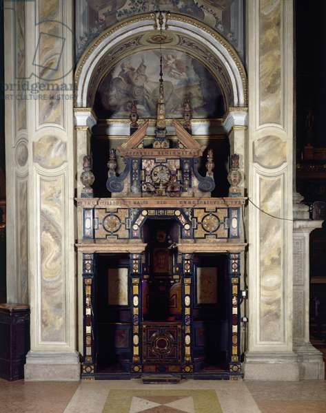 Confessional, Lombard Manifacture, 1674, 17th Century, marble