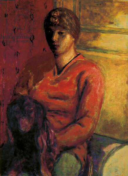 Woman with Dog (La Femme au Chien), by Pierre Bonnard, 1914, 20th Century, oil on canvas