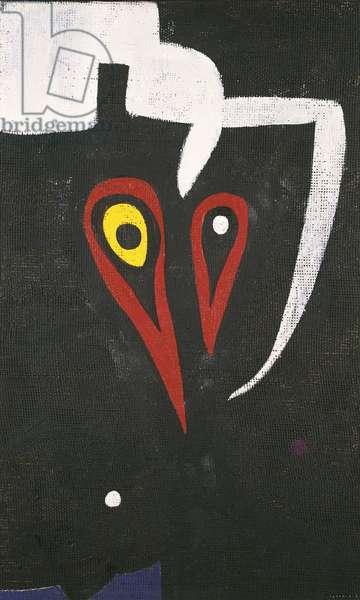 Head, Bird, by Joan Mirî, 1974, 20th Century, oil and acrylic on canvas, 65,5 x 39,5 cm