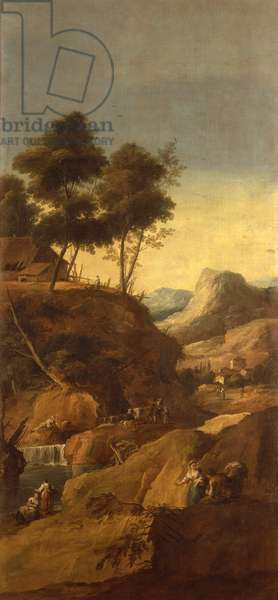 Landscape (Paesaggio), by Giuseppe Zais, c. 1743-1745, 18th Century, oil on canvas