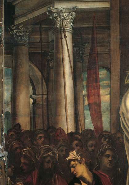 Christ before Pilate (Cristo davanti a Pilato), by Jacopo Robusti known as Tintoretto, 1566 - 1567, 16th Century, oil on canvas, 515 x 380 cm
