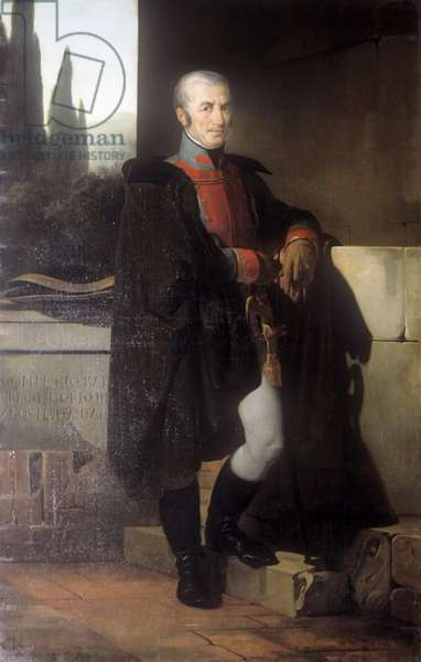 Portrait of Giovanni Battista Birago, by Francesco Hayez, 1822, 19th Century, oil on canvas, 193 x 115 cm