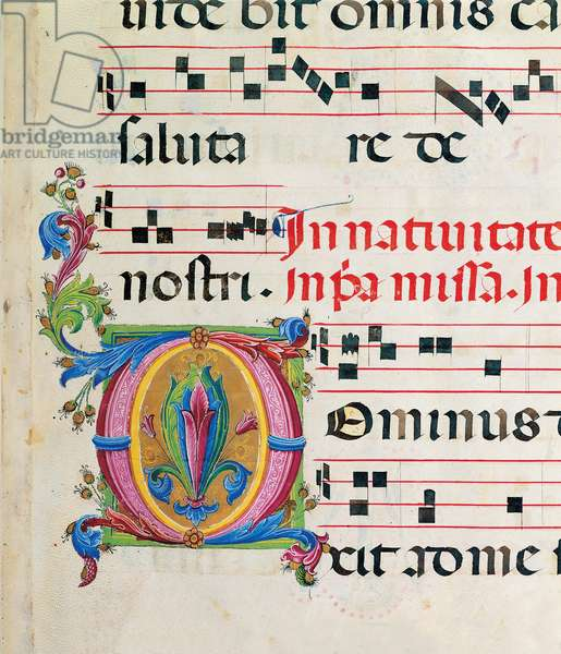 Proprio del tempo gradual from the first Sunday of Advent to the Saturday before Palm Sunday, (illuminated manuscript)