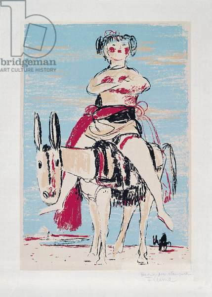 The Foreign Woman in Sicily, 1969 (colour litho)