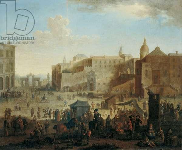 Largo di Palazzo (Largo di Palazzo), by unknown artist, c. 1670, 17th century (oil on canvas) 52 x 63 cm