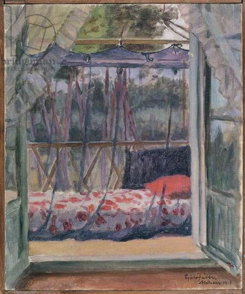 Veranda at Motrone, 1913 (oil on canvas)