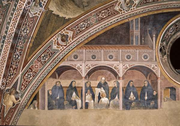 St. Peter Martyr receives the Cloth from St. Domenico, 1365-1367 (fresco)