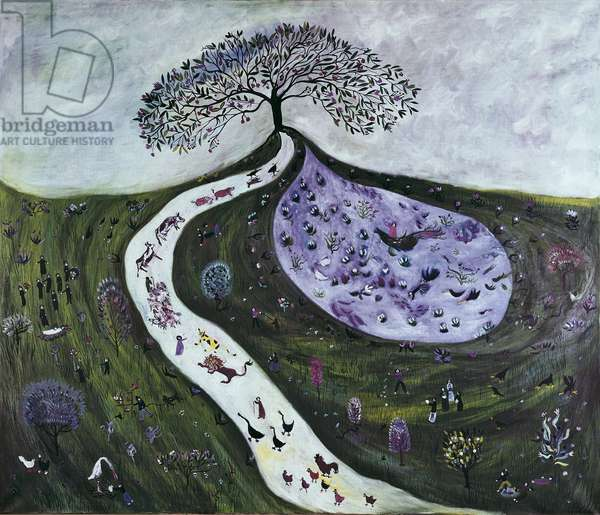 The Tree of Life, 1972 (oil on canvas)
