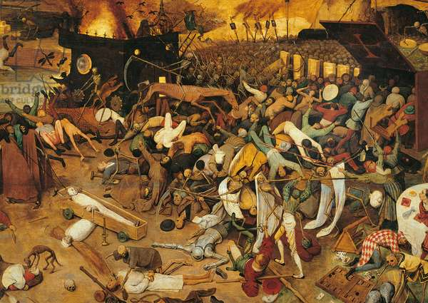 The Triumph of Death, by Pieter Bruegel the Elder, 1562, 16th Century, oil on wood, 117 x 162 cm
