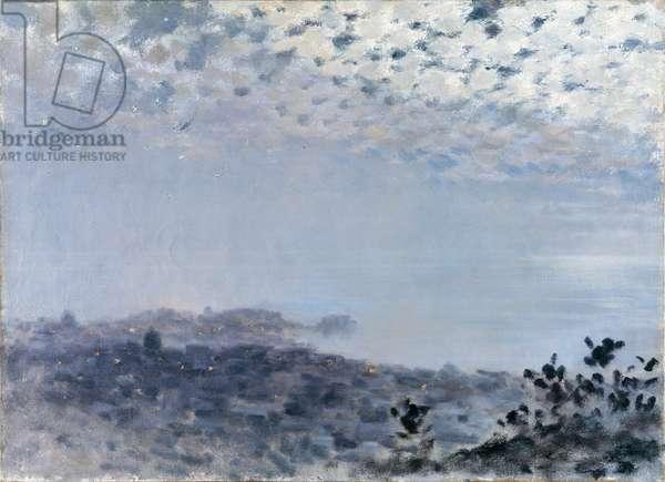 Mist (Foschia), by Giuseppe De Nittis, 1871, 19th Century, oil on canvas, 43 x 63 cm
