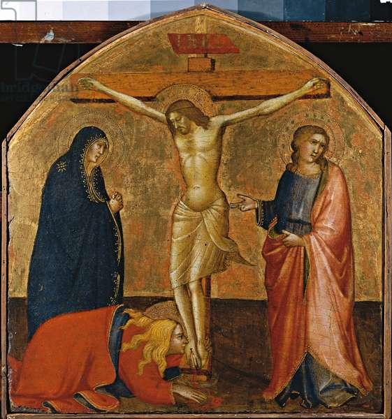 Crucifixion (Crocifissione), by Agnolo Gaddi, 1390 - 1395, 14th Century, poplar panel