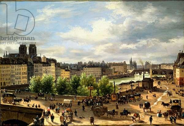 View of the Seine in Paris, 1820 (canvas)