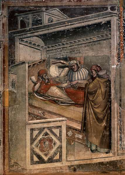 Death of St Gregory, 1342 - 1373 (fresco)