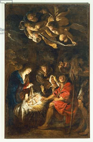 Adoration of the Shepherds, 1608 (oil on canvas)
