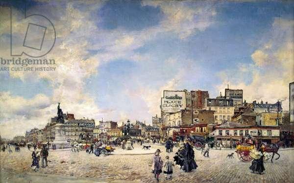 Clichy Palace in Paris (Place Clichy a Parigi), by Giovanni Boldini, 1874, 19th century, oil on canvas, 60 x 98 cm