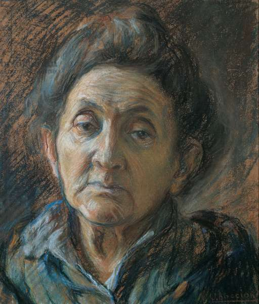 Portrait of an Old Woman, 1908 - 1909 (pastel on paper)