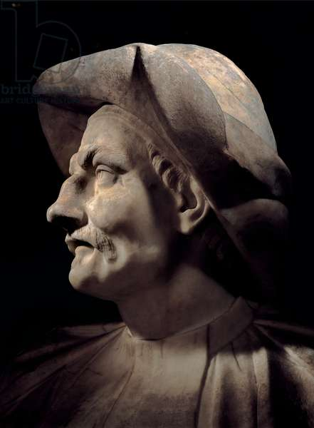 Bust Depicting the Actor Tiberio Fiorilli known as Scaramouche,
