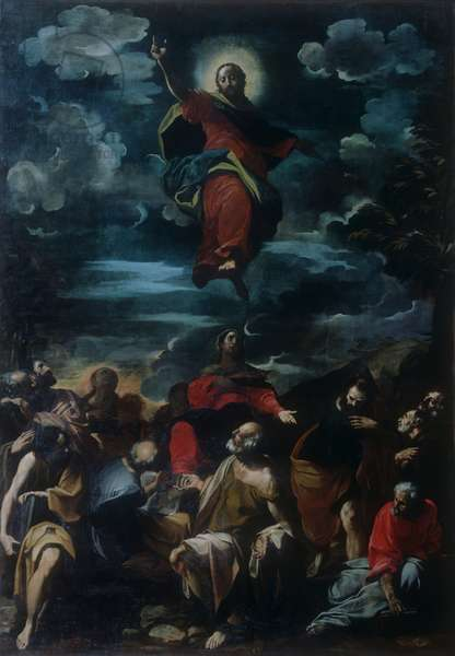 Ascension of Christ, by Carlo Bononi, 1590 - 1632, 16th - 17th Century, oil on canvas