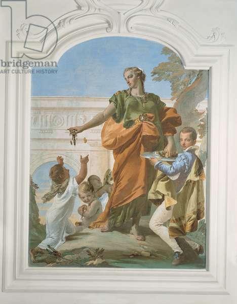 Liberality Dispensing Gifts, 1734 - 1734 (fresco)
