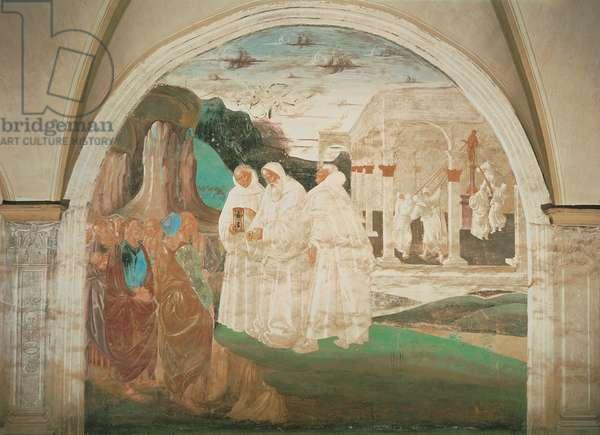 Benedict Evangelizing the Inhabitants of Montecassino, 1497 - 1498 (fresco)