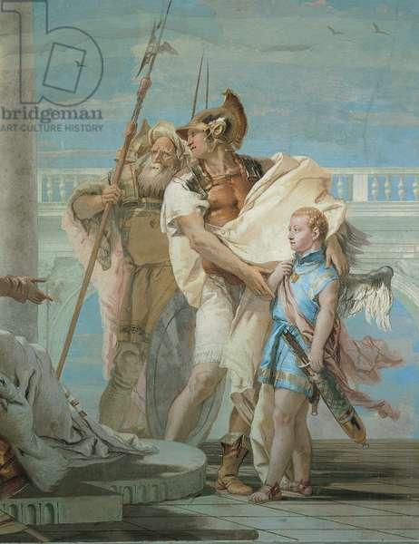 Aeneas Introducing Cupid Dressed as Ascanius to Dido, 1757 - 1757 (fresco)