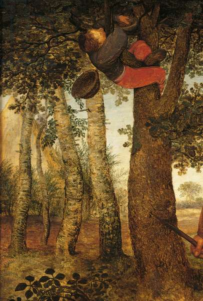 The Peasant and the Nest Robber, by Pieter Bruegel the Elder, 1568, 16th Century, oil on wood, 59 x 68 cm