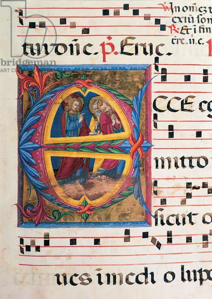 Day and night Antiphonary of the Common of Saints, (illuminated manuscript)