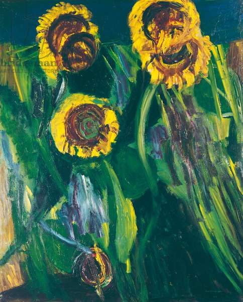 Sunflowers (Girasoli), by Bruno Cassinari, 1964, 20th Century, oil on canvas, 100 x 81 cm