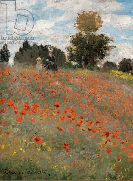 Poppies, surroundings of Argenteuil, 1873 (oil on canvas)