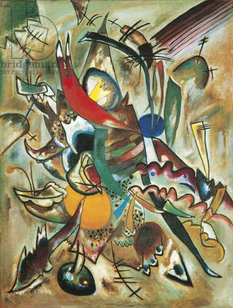 Painting with Spikes - Composition no. 223, by Wassily Kandinsky, 1919, 20th Century, oil on canvas, 126 x 95 cm