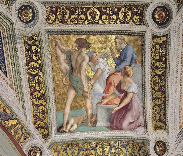 Detail from the Judgement of Solomon, c.1510 (fresco)