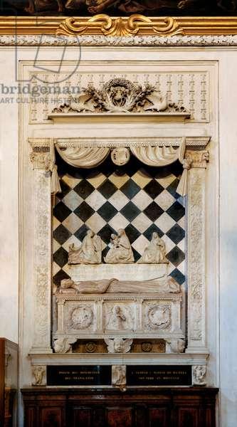 Facade of the Colleoni Chapel in Bergamo, 1470