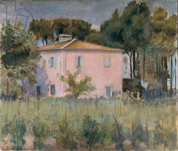 Landscape in the park near the Casa Rossa, 1913 (oil on canvas)