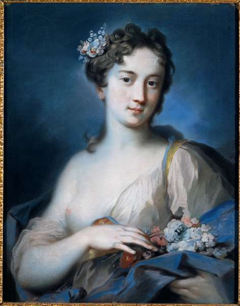 Allegory of Spring, 1726 - 1727 (pastel on paper)
