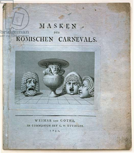 Frontispiece for 'Masks of the Roman Carnivals', 1789 (litho)