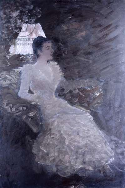 Mrs De Nittis, by Giuseppe De Nittis, 19th Century