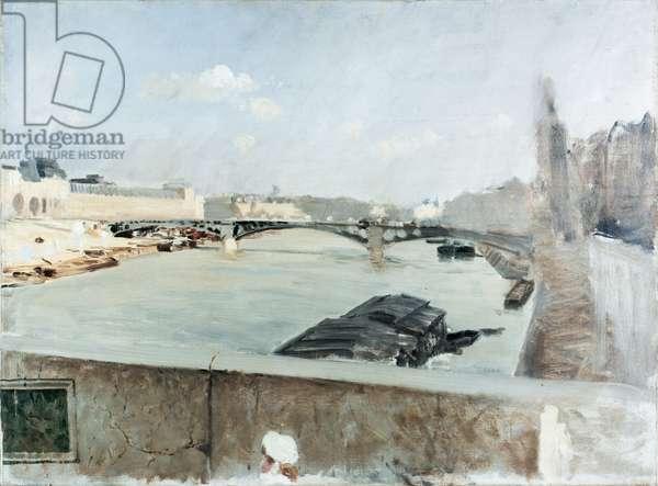 Bridge (Ponte), by Giuseppe De Nittis, 1876, 19th Century, oil on canvas, 54 x 74 cm