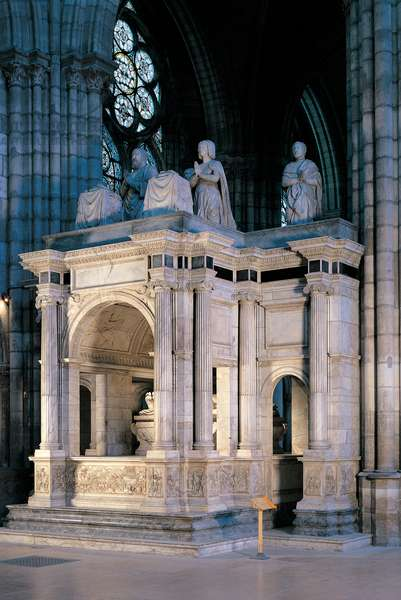 Tomb of Francis I in the Basilica of St Denis in Paris, 1547 - 1558