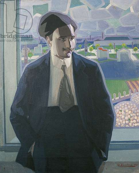 Portrait of Lionello Fiumi, 1917 (oil on canvas)